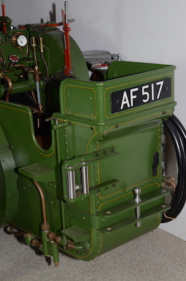 "back view Burrell 3"" live steam road traction engine for sale"
