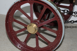 "wheel2 view Burrell 3"" live steam road traction engine for sale"