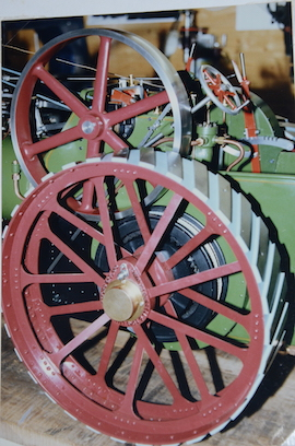 "wheel view Burrell 3"" live steam road traction engine for sale"
