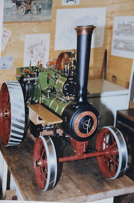 "home view Burrell 3"" live steam road traction engine for sale"