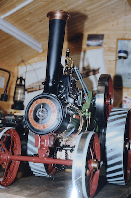 "home2 view Burrell 3"" live steam road traction engine for sale"