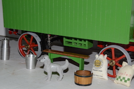 "dog view 1"" caravan for minnie live steam traction engine for sale"