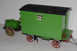 "side view 1"" caravan for minnie live steam traction engine for sale"