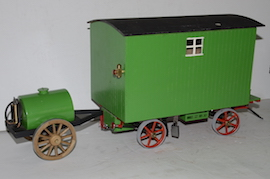 "back view 1"" caravan for minnie live steam traction engine for sale"