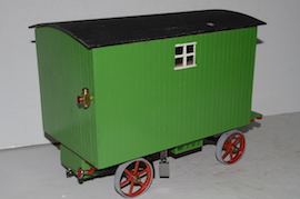 "right view 1"" caravan for minnie live steam traction engine for sale"