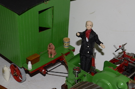 "driver view 1"" caravan for minnie live steam traction engine for sale"