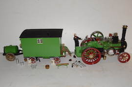 "main view 1"" caravan for minnie live steam traction engine for sale"