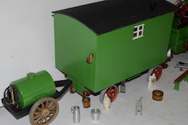 "rear view 1"" caravan for minnie live steam traction engine for sale"