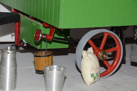 "wheel view 1"" caravan for minnie live steam traction engine for sale"