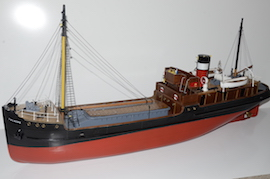 main Live steam Valder Craft SS Talacre cargo ship for sale RC boiler gas plant