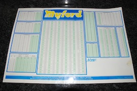 main view myford lathe thread & pitch chart tables for sale