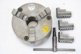 main view boxford colchester Pratt Burnerd 3 jaw chuck D1-3 camlock 125mm for sale