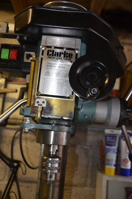 chuck view clarke CMD1225 milling machine for sale