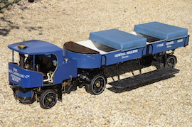 "seat view 2"" Clayton live steam wagon truck for sale"