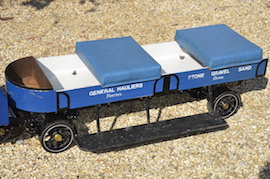 "footplate view 2"" Clayton live steam wagon truck for sale"