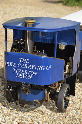 "Main view 2"" Clayton undertype live steam wagon truck for sale"