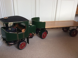 "Main view 2"" Clayton live steam wagon truck for sale"