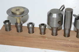 collet view cowells milling machine collets fly cutters arbors for sale