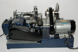 rear view cowells cw90 clockmakers  lathe for sale