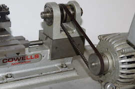 front view Cowells CW90 clockmakers lathe for sal