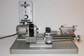 front view  Cowells HS90 high speed clockmakers lathe for sal