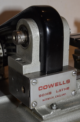head view  Cowells HS90 high speed clockmakers lathe for sal
