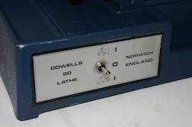 bed view cowells me90 lathe  for sale
