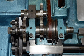gears view cowells me90 lathe  for sale