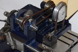 pulley view Cowells ME90 lathe for sale