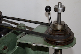 pulley view Cowells small pillar drill for sale