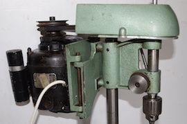 left2 view Cowells small pillar drill for sale