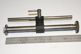 main view Myford column arm for dial gauge for sale