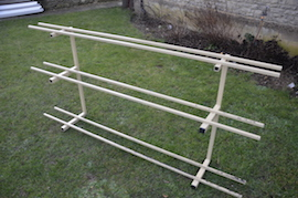 "3.5"" & 5"" live steam locomotive display track rack for sale"