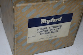 box view dividing head myford lathe for sale