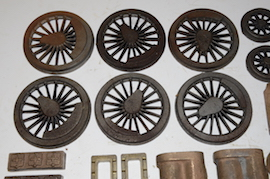 wheels view Doris 460 live steam loco castings Black 5 LBSC for sale