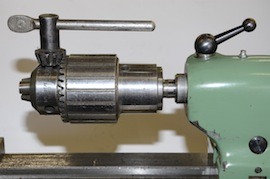 main view large spindle tailstock drill chuck jacobs for myford lathe for sale