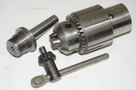 parts view large spindle tailstock drill chuck jacobs for myford lathe for sale