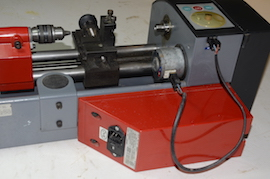 back view emco SL unimat 3 4 lathe for sale