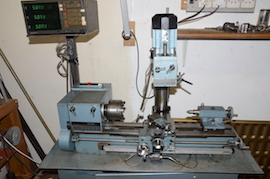 main Emcomat 7 Emco lathe with milling column head attachment for sale