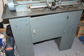 cabinet Emcomat 7 Emco lathe with milling column head attachment for sale