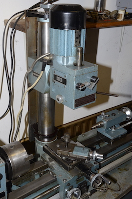 head Emcomat 7 Emco lathe with milling column head attachment for sale