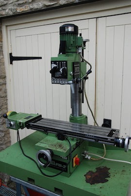 front view emco fb2  vertical milling machine for sale