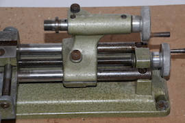 tailstock view emco unimat selecta SL lathe for sale