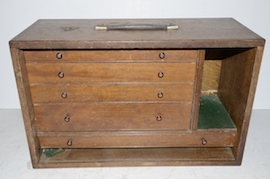 main view wooden engineers cabinet box  for sale