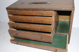 draw view wooden engineers cabinet box  for sale