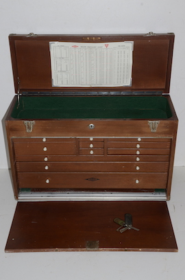 main view Neslein wooden engineers cabinet box  for sale