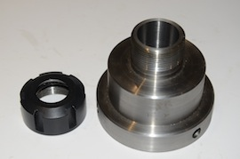 main view myford er25 collet holder for big bore spindle lathe  for sale