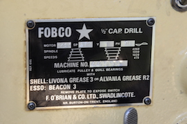 Fobco star bench mounting pillar drill for sale speed view
