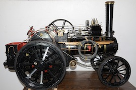 "front view Fowler 2"" live steam traction engine for sale"