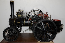 "left view Fowler 2"" live steam traction engine for sale"